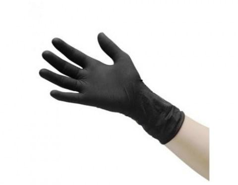 Γάντια Μαύρα Latex Χωρίς Πούδρα.Ιδανικά Για Tattoo k Piercing