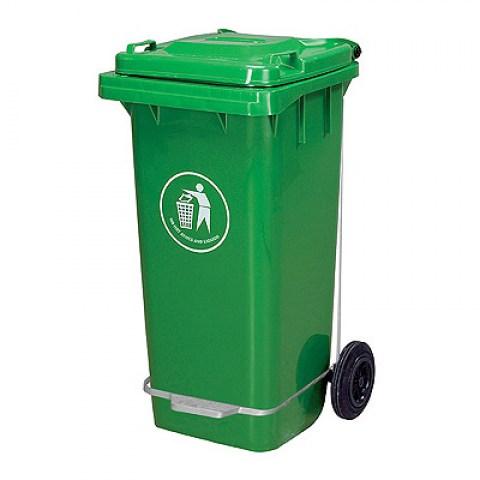 Κάδος Απορριμάτων Τροχήλατος Πλαστικός με Πεντάλ