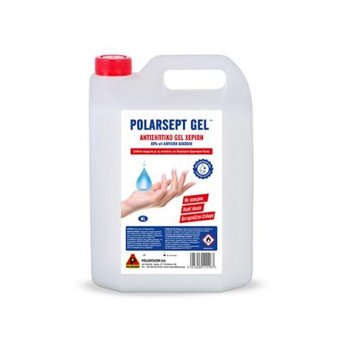 Αντισηπτικό Χεριών Polarsept Gel 4L