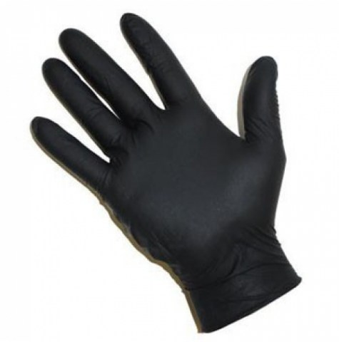 Γάντια Μαύρα Νιτριλίου Χωρίς Πούδρα.Ιδανικά Για Tattoo k Piercing ή Κέντρα Αισθητικής