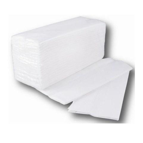 Χειροπετσέτα Ζικ Ζακ Α Ποιότητας (4.000 Φύλλα) Λευκή
